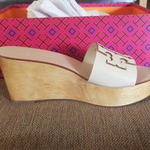 Tory Burch Shoes - Tory Burch Ines Wedge Platform Slide Sandal